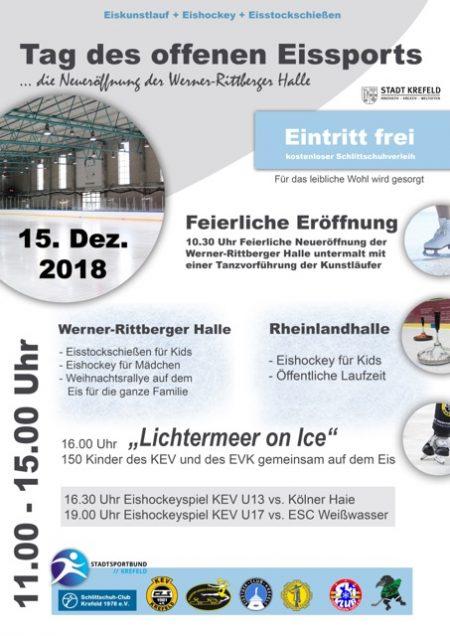 Plakat Tag des offenen Eissports